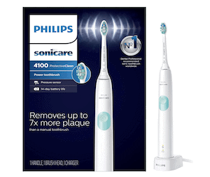 battery powered toothbrush with a timer
